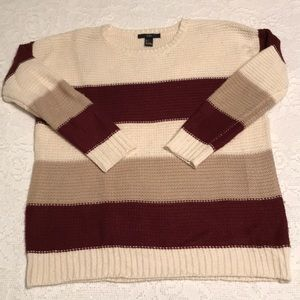 Forever 21 Knitted Striped Sweater Small